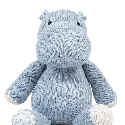 Nijlpaard Knuffel - Soft Blue