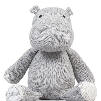 Nijlpaard Knuffel - Light Grey