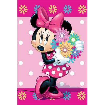 Minnie Mouse Flowers - Fleece deken 100x150