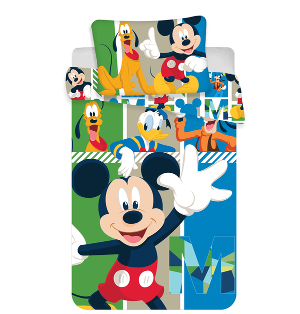 Mickey Mouse dekbedovertrek ledikant 100x135 - And friends
