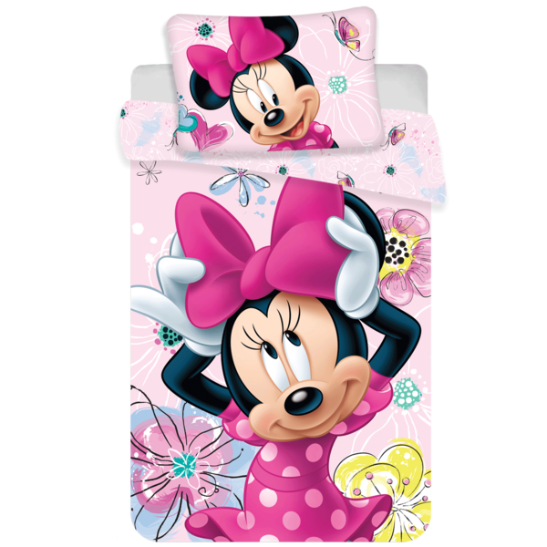 Minnie Mouse dekbedovertrek ledikant 100x135 - Butterfly