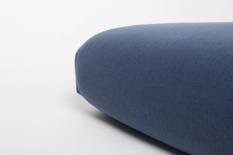 Jersey hoeslaken ledikant 60x120 - Blauw Indigo - Nappiez