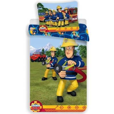 Brandweerman Sam ledikant dekbedovertrek 100x135 - Blauw