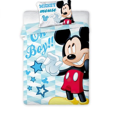 Mickey Mouse dekbedovertrek ledikant 100x135 - Oh boy
