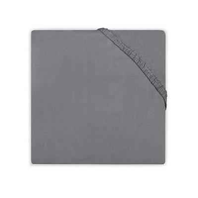 Jersey hoeslaken ledikant 60x120 - Antraciet