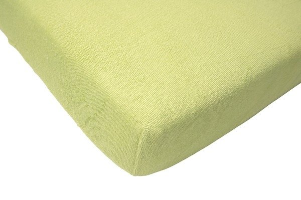 Hoeslaken ledikant 60x120 - Badstof Soft Lime
