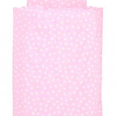 Hearts Pink dekbedovertrek ledikant 100x140