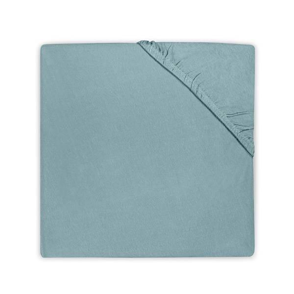 Hoeslaken 60x120 ledikant - Katoen Stone Green