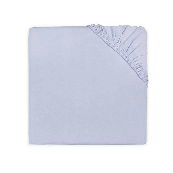Jersey hoeslaken ledikant 60x120 - Baby Blue