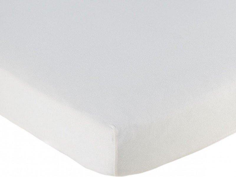 Hoeslaken ledikant 60x120 - Jersey Wit