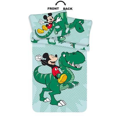 Mickey Mouse dekbedovertrek ledikant 100x135 - Groen
