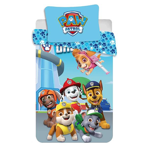 Paw Patrol dekbedovertrek ledikant 100x135 - One Team