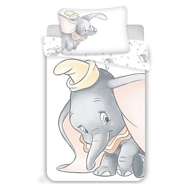 Dumbo dekbedovertrek ledikant 100x135 - Grijs