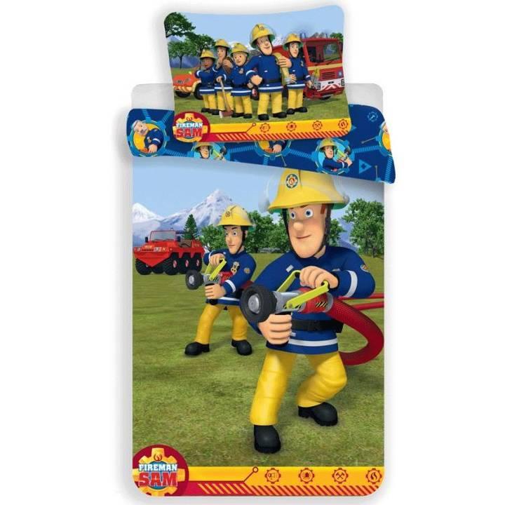 Brandweerman Sam ledikant dekbedovertrek 100x135 - Blauw - 2e kans