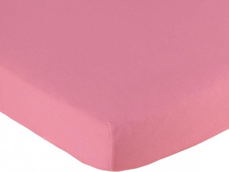 Hoeslaken ledikant 60x120 - Jersey Koraal