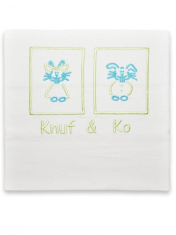 Knuf en Ko Lime dekbedovertrek ledikant 100x135