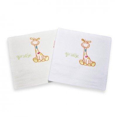 Girafje Ecru - Oranje dekbedovertrek ledikant 100x135
