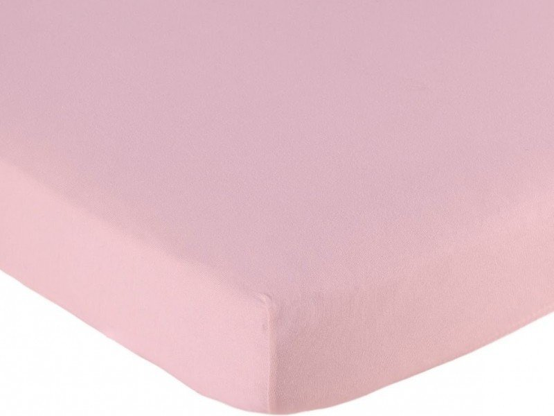 Hoeslaken ledikant 60x120 - Katoen Roze