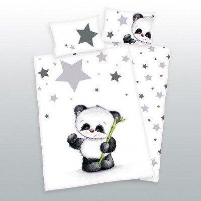 Panda dekbedovertrek ledikant 100x135