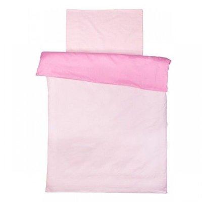 Licht roze/roze dekbedovertrek ledikant 100x140