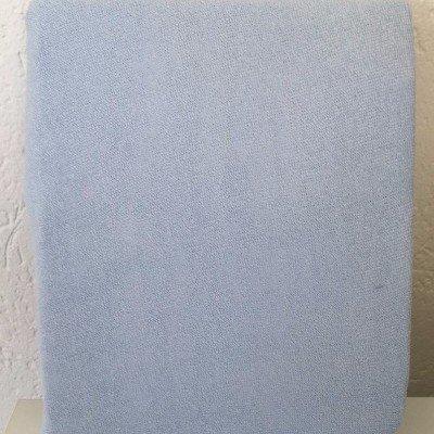 Hoeslaken ledikant 60x120 - Badstof Licht blauw