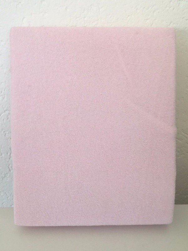 Hoeslaken ledikant 60x120 - Badstof Licht roze