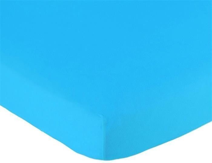 Hoeslaken ledikant 60x120 - Jersey Aqua